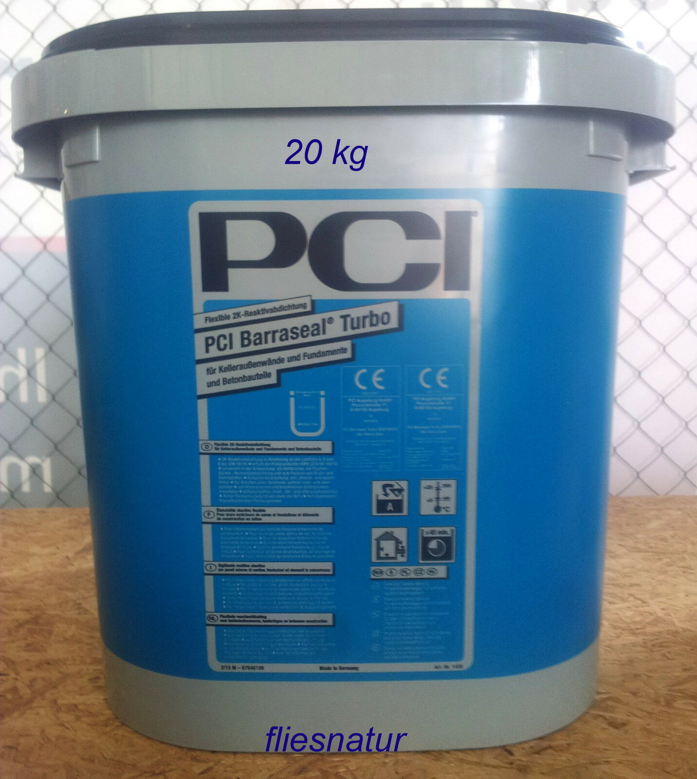 PCI Barraseal Turbo 20kg 2K-Reaktiv-Abdichtung Kelleraußenwände Fundamente Beton