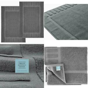 "2 Pk White Classic Luxury Bath Mat Flr Towel St 100/% Cotton 22/""x34/"" Navy Blu"
