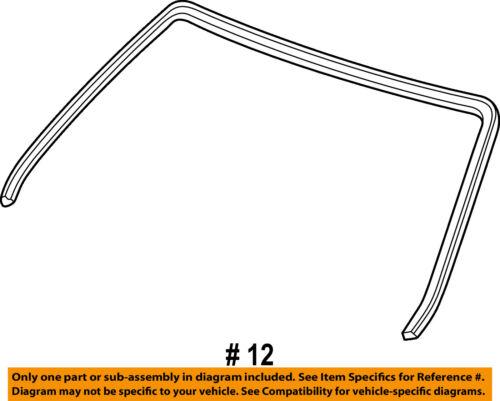 HONDA OEM 96-00 Civic Windshield-Reveal Molding 73150S04003