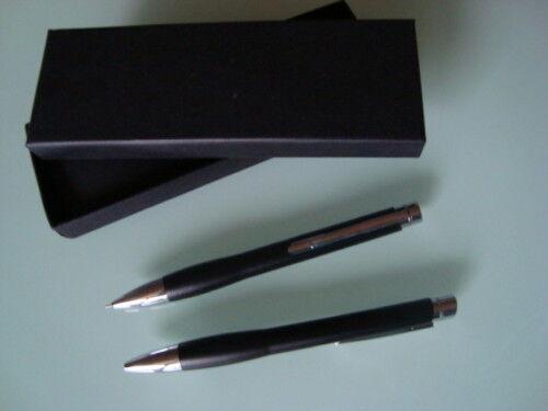 schwarz 2-teilig Schreibset inklusive Gravur
