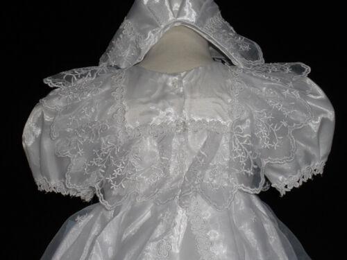 Infant Girl /& Toddler Christening Baptism Formal Dress 6-12M,18-30 M Whie