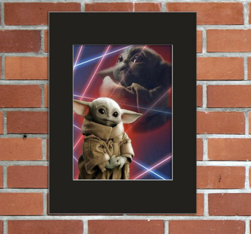 Baby Yoda Grogu 80s Glamour Shots School Senior Picture 8x10 Mat 5x7 Print