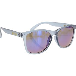 Glassy Sunhaters Deric Clear.Grey//Blue Mirror Sunglasses