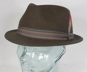 1138ef10c8 Details about Stetson Trilby Hat Oviedo Men's Hat Wool Hat Small Hats Brown  Wool Felt Hat New