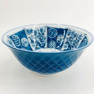 Takahashi San Francisco 6 Inch Floral Bowl Blue & White Made in Japan 94103