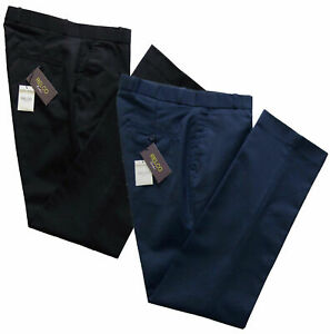 Relco-Mens-Stay-Press-Navy-Blue-Black-Trousers-Sta-Pressed-Sizes-32-to-42-Vtg