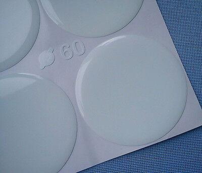 (60W) 4x weiß Embleme für Nabenkappen Felgendeckel 60mm Silikon Aufkleber weiss
