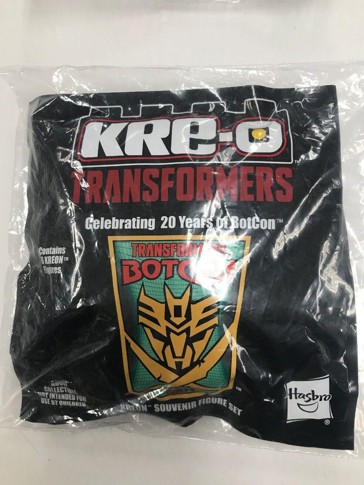 Transformadores BOTCON 2014 Kreo Kre-o Kreon conjuntos de menta en caja sellada-Paquete de 6