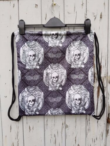 Gothic Skull /& Bat Backpack Bag Gym Handbag Horror Lace Goth
