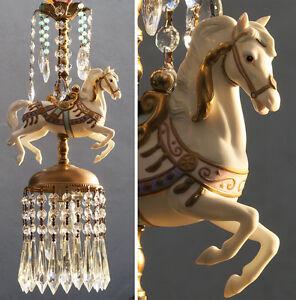 White porcelain horse carousel lamp swag chandelier vintage opalin white porcelain horse carousel lamp swag chandelier vintage aloadofball Gallery