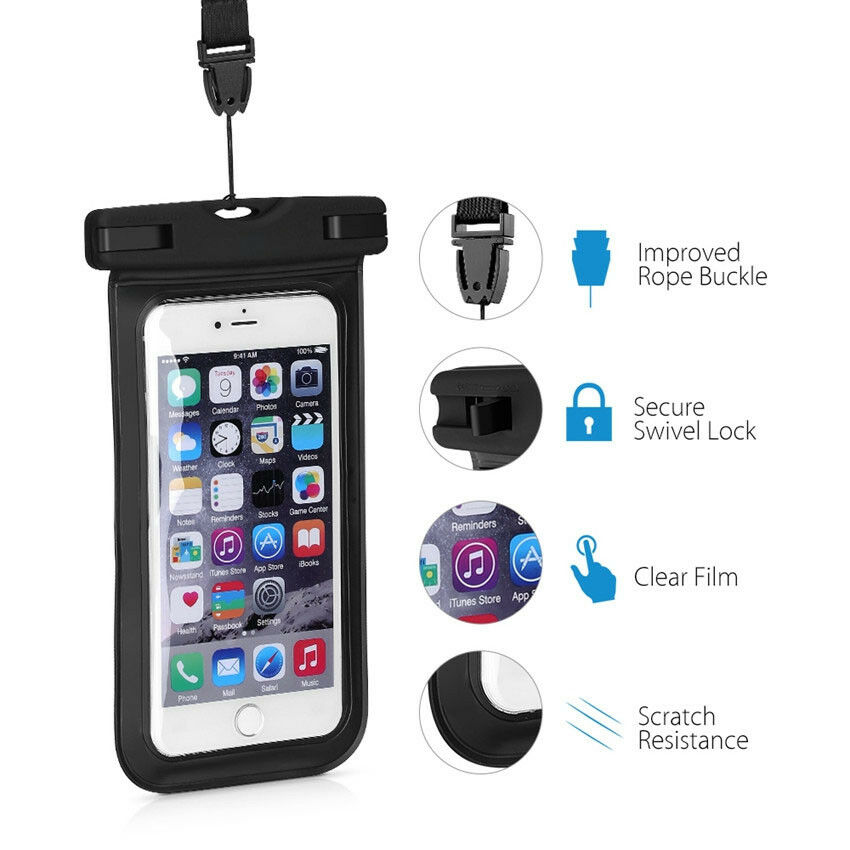 huge selection of 01d76 d10d2 Details about Universal Waterproof Phone Case Underwater Dry Bags Pouch For  iPhone 7/8 Samsung