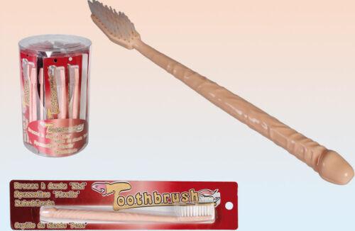 Cepillo de dientes Forma Pene Willy Pene Bromas engaños Santa Regalo Hen Stag Navidad 6 un.