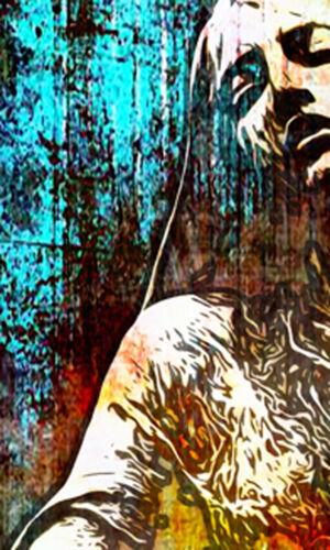 LEINWAND BILD ER XXL POP ART GRAFFITI ABSTRAKT SKULPTUR STATUE FRAU BUNT POSTER