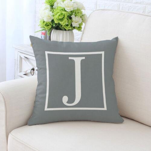 Letter Office Pillow Case Sofa Car Waist Throw Cushion Cover Home Decor