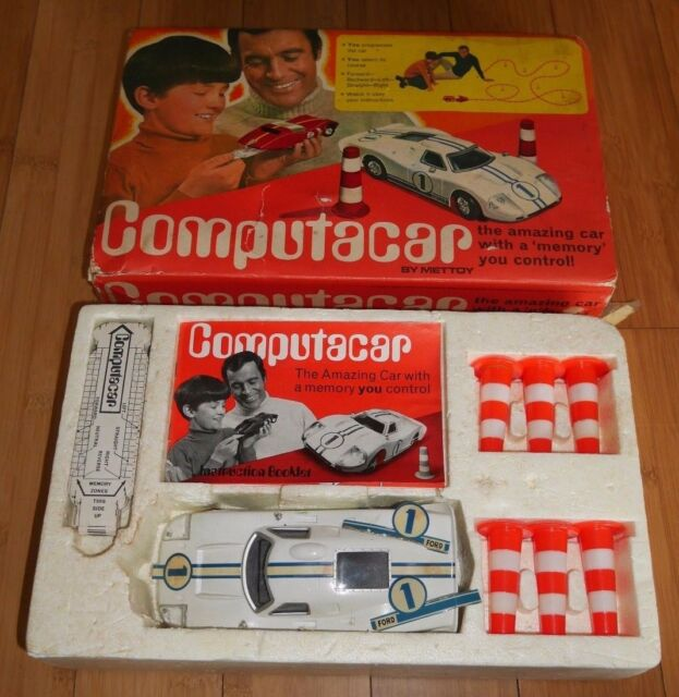 METTOY COMPUTACAR FORD GT40 SPORTS RACING CAR RARE BOXED TOY C. 1970's