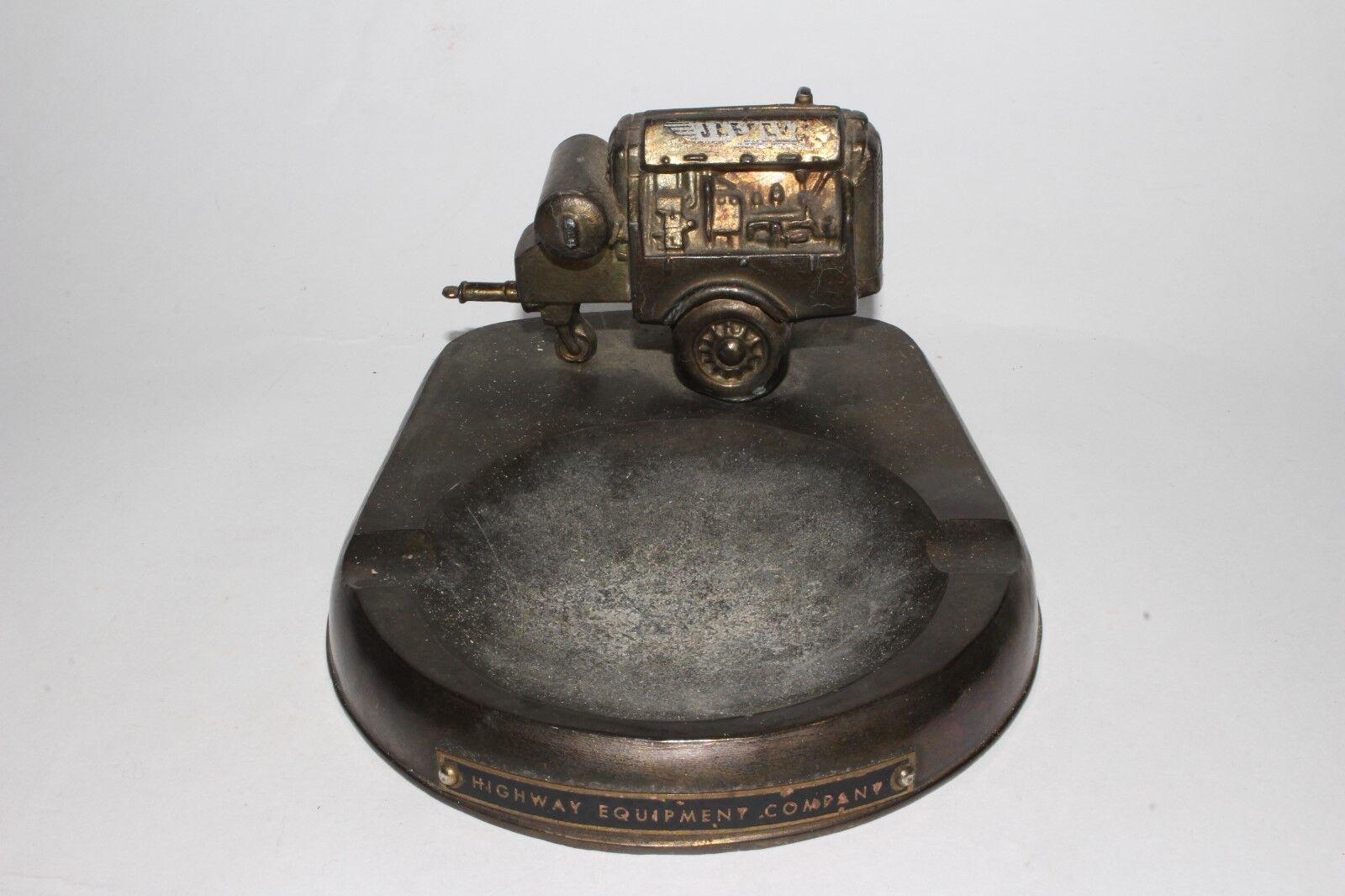 nueva marca Década de 1930 1930 1930 Jaegar Compresor de aire Olla De Metal Promo Cenicero, Original  alta calidad y envío rápido