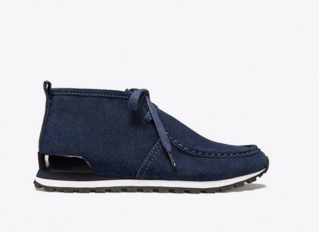 Tory Burch Sport NEW Chukka Trainers scarpe da ginnastica Perfect Navy Suede Ankle stivali