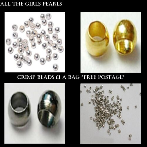 BOX71 Crimp Beads Packs of 500 Nickle free choice of Size /& Colour