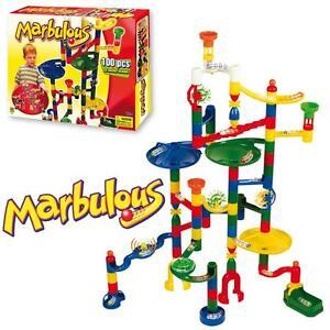 Marbulous-Childrens-Kids-Marble-Drop-Race-Run-100pce-Construction-Track-Toy-Set