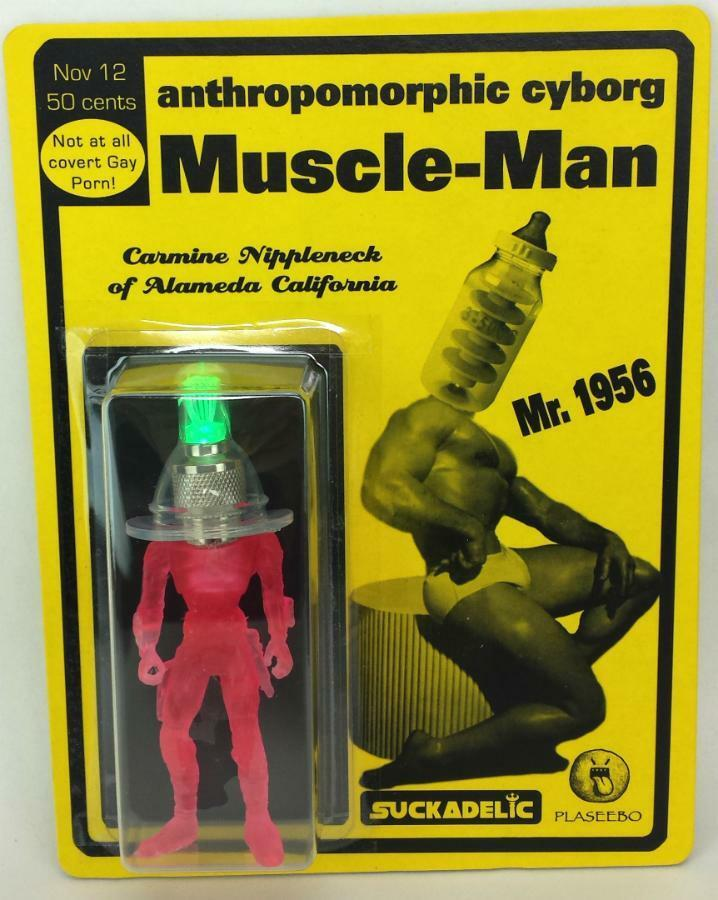ANTHROPOMORPHIC CYBORG MUSCLE-MAN ACTION FIGURE SUCKADELIC SUCKLORD PLASEEBO