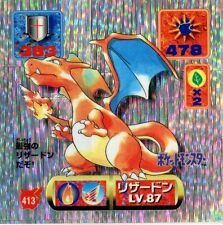 POKEMON STICKER CARD JAPANESE 50X50 1997 SILVER HOLO N° 413 CHARIZARD DRACAUFEU