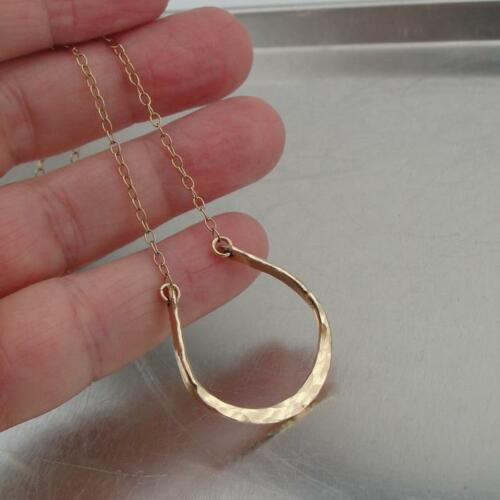 Hadar Designers Horseshoe Pendant Handmade 14k Yellow Gold FilV Great Gift