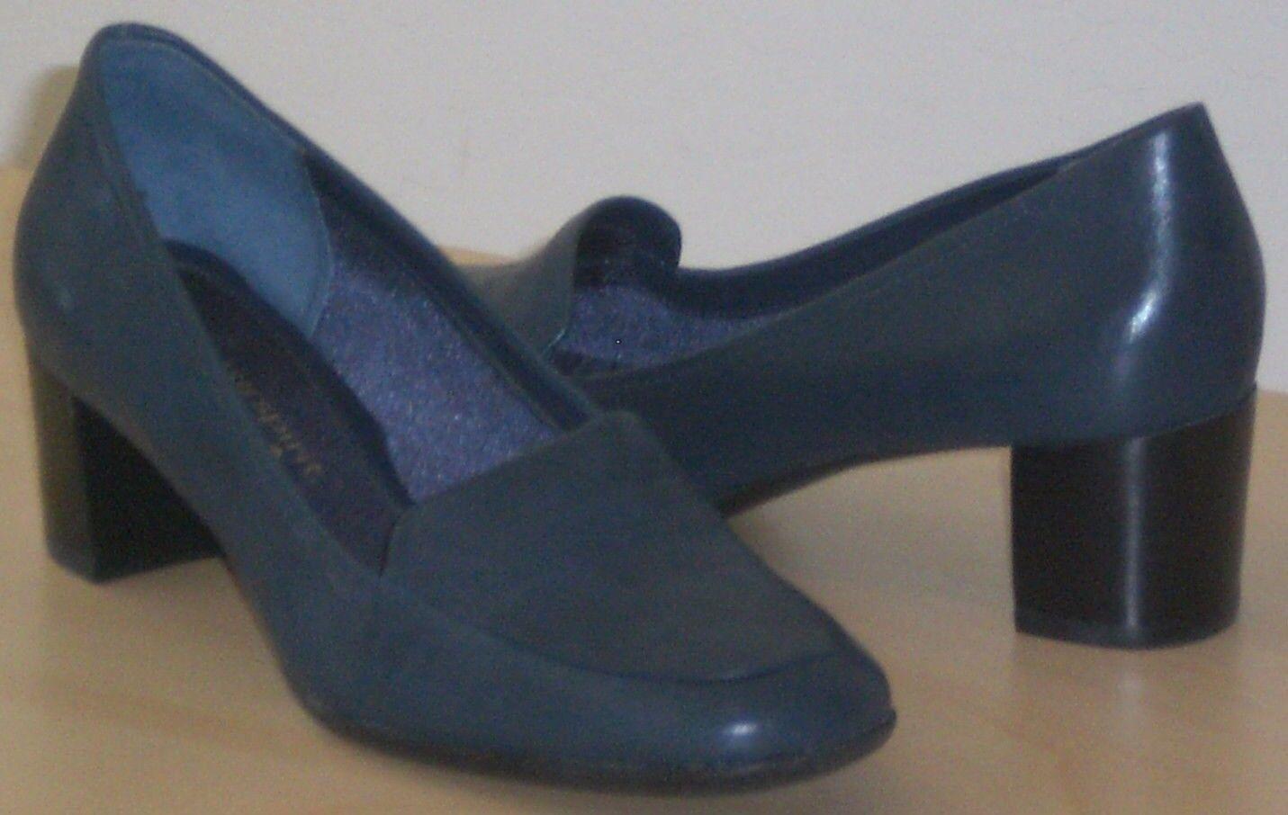 Easy Spirit Anokit loafer medium blue leather 2