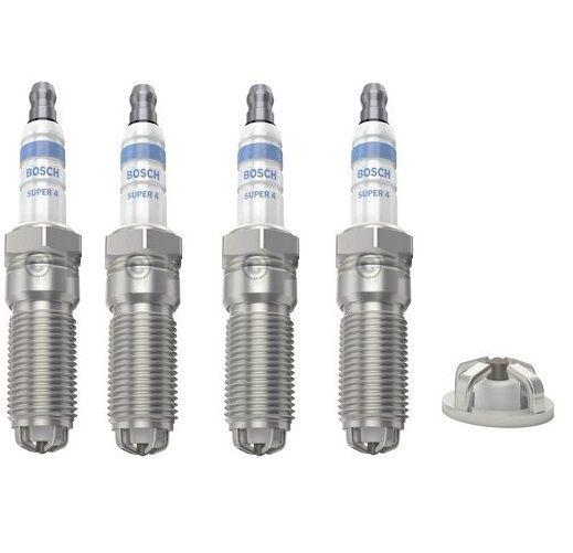 4x Opel Zafira B 1.6 Genuine Bosch Super Spark Plugs
