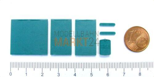 2x albedo piezas de repuesto-set ventilación parrilla roll cargar Man turquesa 50er h0 0213