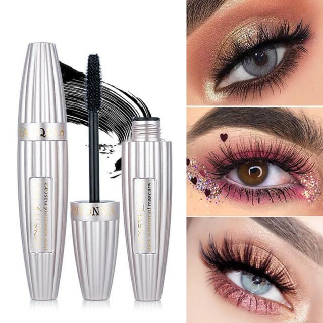 1fecefc1a77 4D Silk Fiber Eyelash Mascara Extension Makeup Black Waterproof Eye Lashes  USA