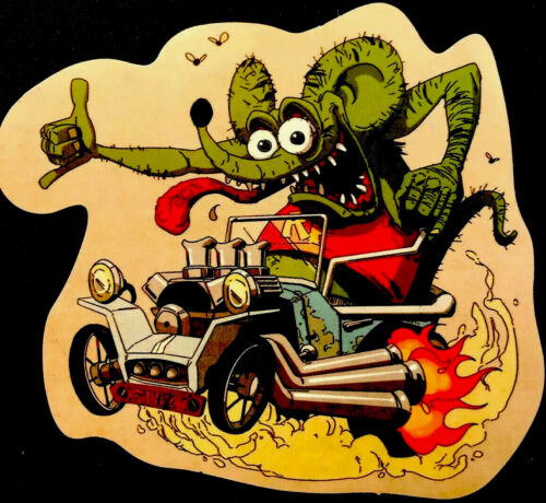 """RAT FINK STICKER """"HANG LOOSE HOT ROD""""3 1//2"""" X 4"""" UV COATED VERY COOL!!!"""