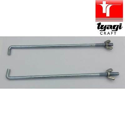 M4 Flush Head Clinch Studs Smooth Top Fully Threaded BZP Bright Zinc Plated