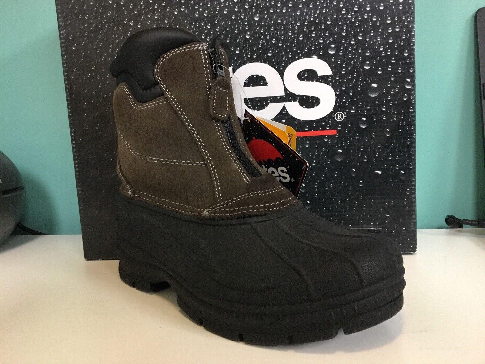 New Mens Totes Winter Snow Boot Glacier Zip Size 8