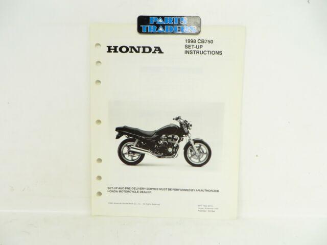 Nos Genuine Honda Dealer Set Up Instruction Manual Cb750 Nighthawk 1998