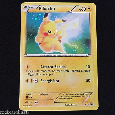 ITALIAN Black Star PROMO Pokemon Card Pikachu HOLO RARE PROMO BW54 NM//M