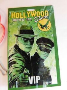 Limited-Edition-Hollywood-Show-VIP-2012-Pass-w-lanyard-Green-Hornet-greeen