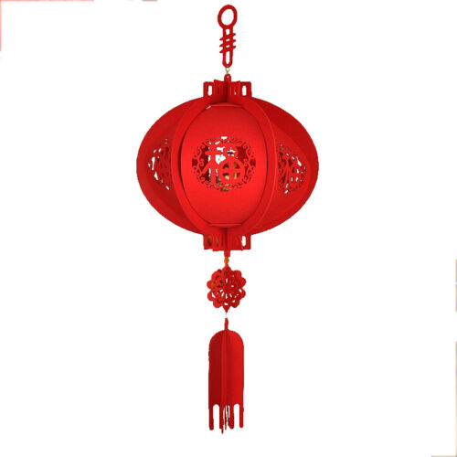FT Happy New Year Chinese Red Lucky Lantern Hanging Spring Festival Home Decor