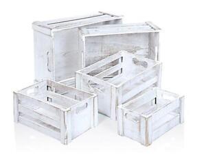 Holzkisten-Holzboxen-im-5-er-set-In-Weiss-mit-Vintage-Finish-Bad-und-Kueche