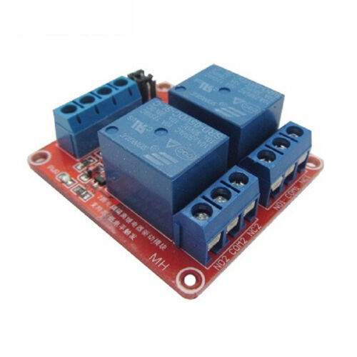 5V 2 Channel Relay Module with Optocoupler and High//Low Level Trigger