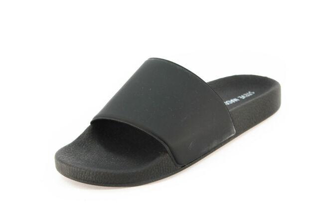 Steve Madden Mens Mastic Black Slide