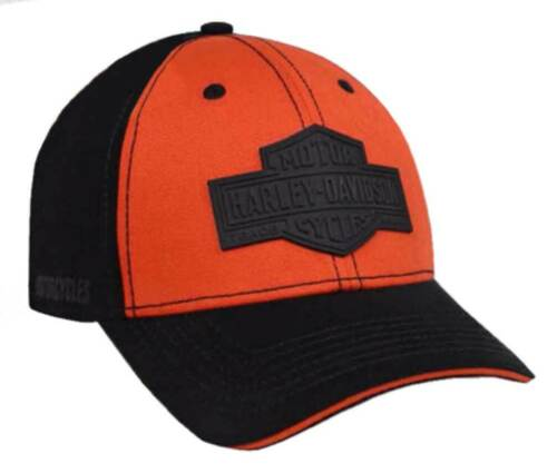 Orange /& Black BCC31264 Harley-Davidson Men/'s Rubber B/&S Patch Baseball Cap