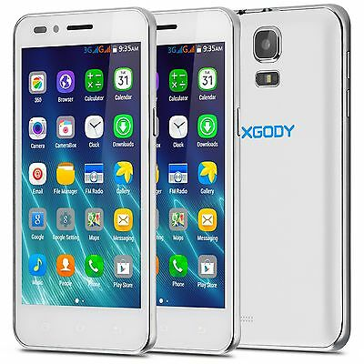 "XGODY 4.5"" Android Unlocked Smartphone Quad Core 3G/GSM Top Mobile Cell Phones"