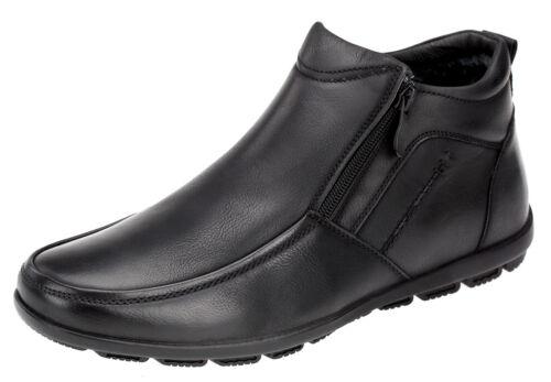 Herren Boots Stiefeletten Gefütterte Stiefel Winterschuhe Schwarz 40-45 Neu 0167