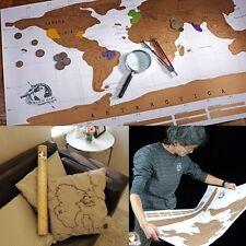 Scratch Off Map persönliche Weltkarte Poster Welt Karte zum Freirubbeln