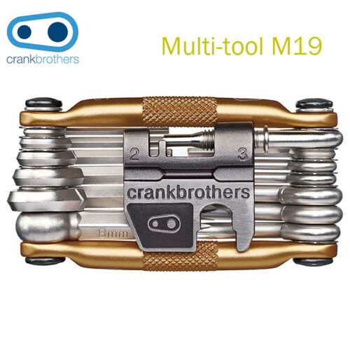 CrankBrothers M19 Multi Tool,19-Function,Bicycle maintenance Tool,With Case,Gold