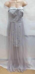 Ladies-Designers-By-Debenhams-Silver-Mesh-Prom-Dress-Size-UK14-LOT-D52