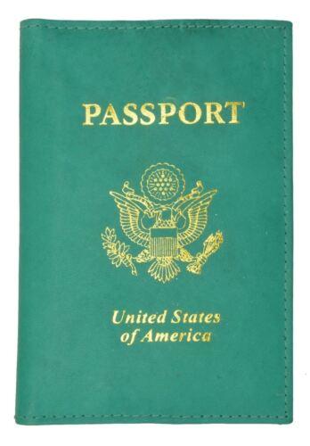 Neu USA Leder Passport Hülle Portemonnaie Kredit Atm Kartenhülle Id-Halter Brand