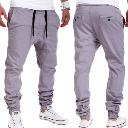 Mens Running Sports Sweatpants Tracksuit Bottoms Jogger Dance Gym Pants Trousers