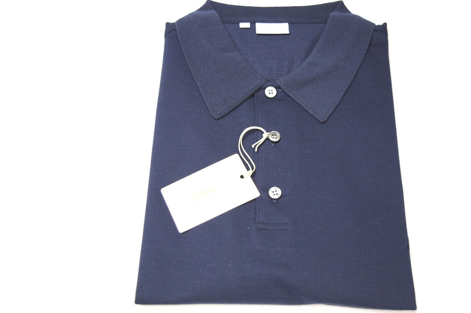 NEW  BRIONI Polo Zip  Short Sleeve Cotton Größe  Us 2XL  Eu 56 (SP31)