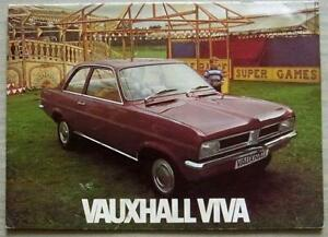 VAUXHALL VIVA RANGE Car Sales Brochure 1972 #V2084/5/72 SL De Luxe ESTATE ++